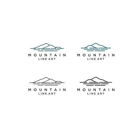 Hawaii Island / Mountain and Sea logo design inspiration Çizim