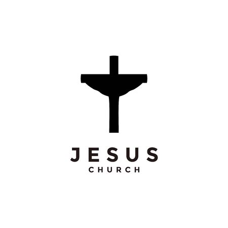 Church logo. Christian symbols. Cross symbol of the Holy Spirit