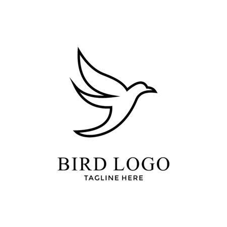 Taube Vogel Liebe Friedensreligion mit modernem Konzept Symbol Logo Design Vektor