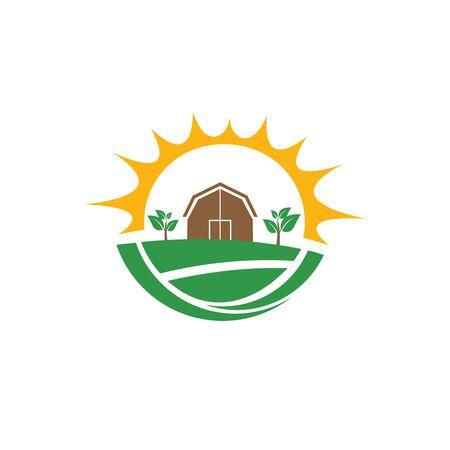 simple modern Agriculture logo design vector