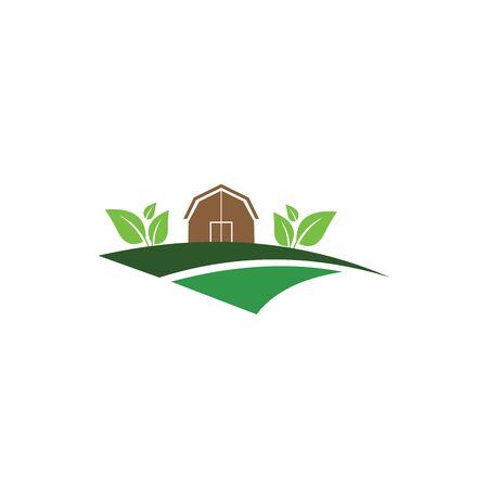 einfacher moderner Landwirtschaftslogo-Designvektor