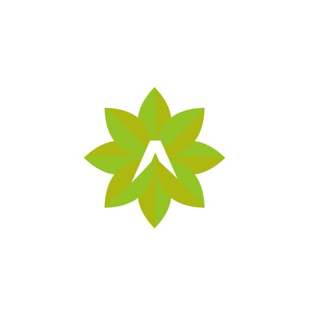 simple modern Agriculture with initial A logo design vector