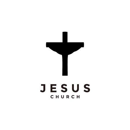 Church logo. Christian symbols. Cross symbol of the Holy Spirit