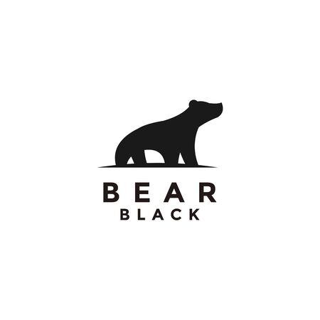 black bear logo icon designs Illustration