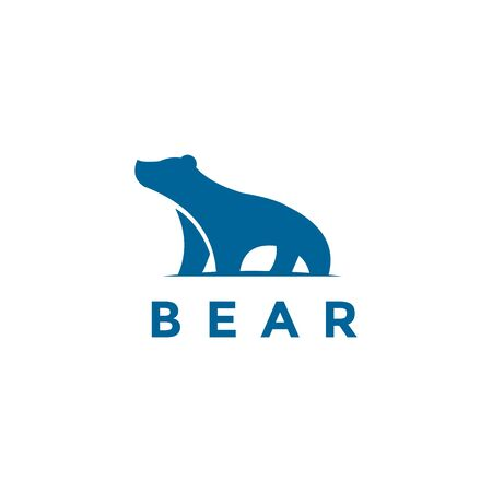 blue bear logo icon designs Illustration