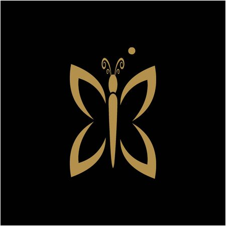 luxury butterfly logo unique design vector Illustration