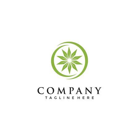 marijuana, cannabis, ganja for cbd simple unique logo design Reklamní fotografie - 140702050