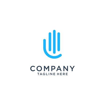 abstract Communication logo design company Premium Vector