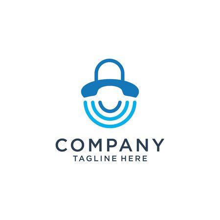 Communication logo design company Premium Vector