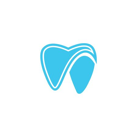modern Creative dental care clean blue teeth logo vector