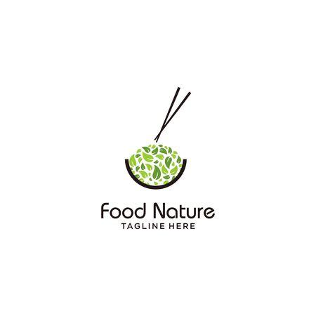 Simple fitness logo design template vector