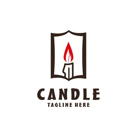 Candle icon on white background. Candle vector logo. Flat design style. Modern vector pictogram Illustration