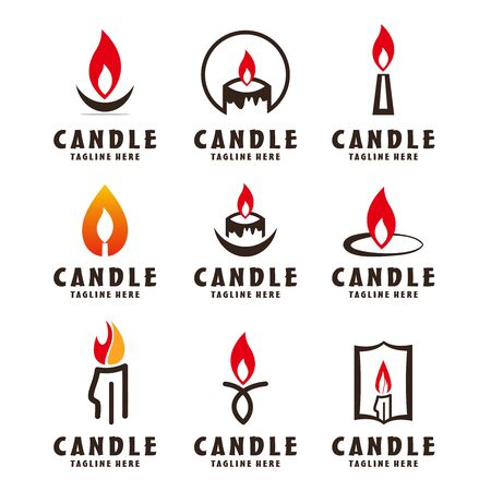 Candle icon on white background. Candle vector logo. Flat design style. Modern vector pictogram Ilustração