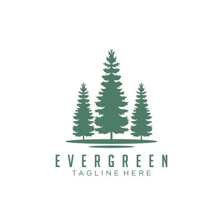 Evergreen, Pines, Spruce, Cedar trees logo design Logos