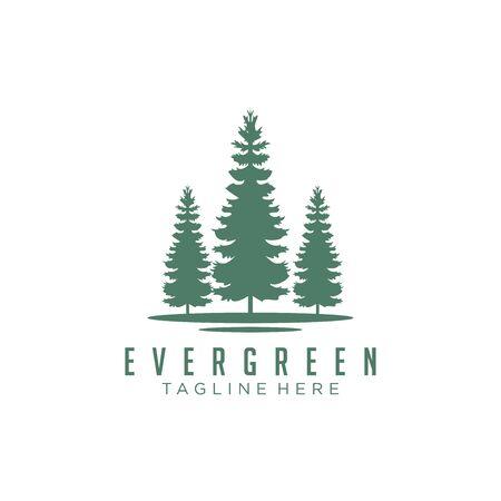 Immergrün, Kiefern, Fichte, Zedernholz-Logo-Design Logo