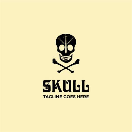 Skull logo design template vector image Logo