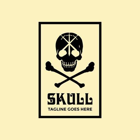 Skull logo design template vector image 스톡 콘텐츠 - 140816090
