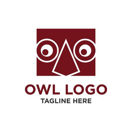 owl for education simple unique logo design vector
