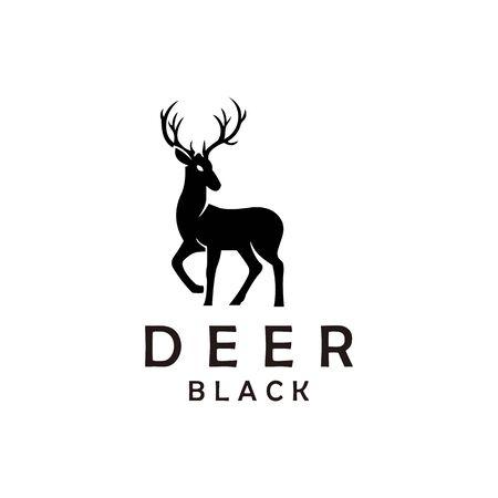 deer hunter emblem logo design vector