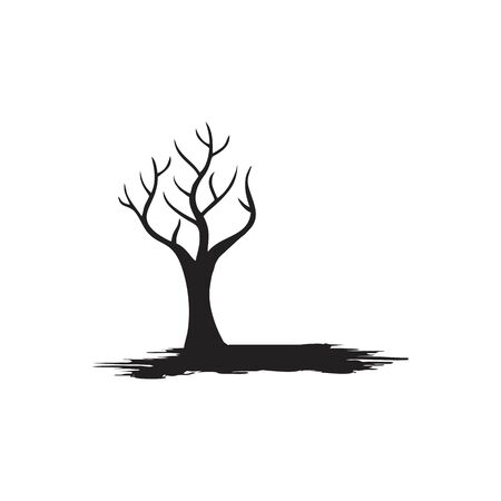 tree without leaf logo design vector Illustration
