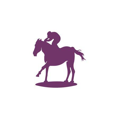 horse race logo design vector