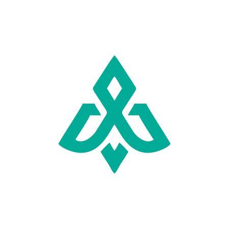 abstract airplane logo design vector