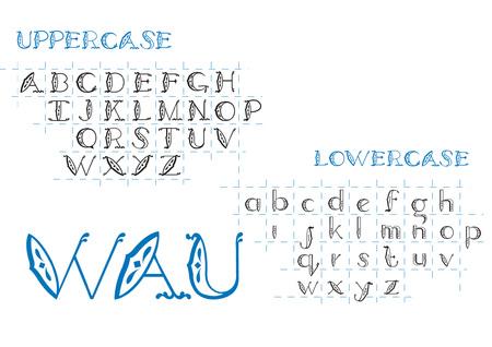 Wau Font Illustration