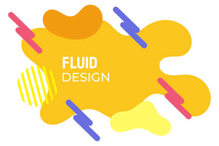 Yellow fluid design with nice geometric lines and bright colors. suitable for background, web, cover, banner, presentation, etc. Vector Illustratie