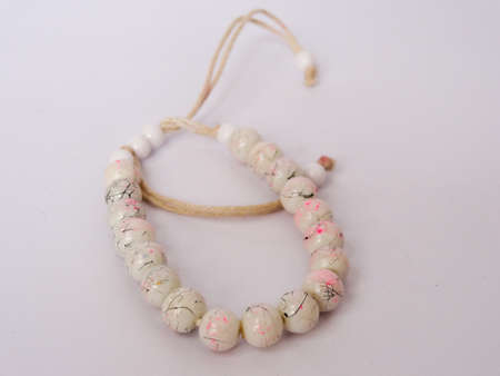 necklace in colorful on white background