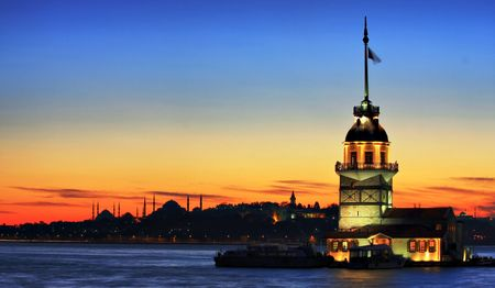 freedom tower: The Maidens Tower in Istanbul