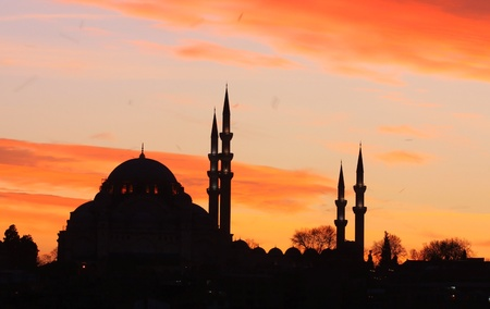 Istanbul-Mosque silhouette photo