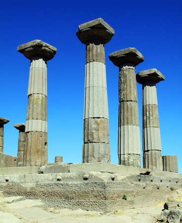athena: Ruined Athena Temple in Assos, Turkey  Stock Photo