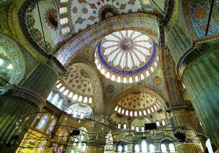 Intérieur de la mosquée bleue à Istanbul, Turquie Éditoriale