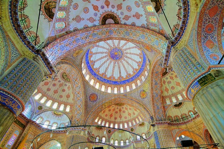 Inside the Blue mosque in Istanbul, Turkey  Stock Photo - 11867678
