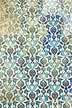 Ancient Handmade Turkish Tiles photo