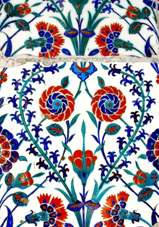 Ancient Handmade Turkish Tiles Stock Photo - 11867673
