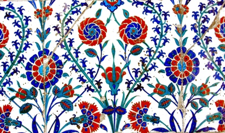 Ancient Handmade Turkish Tiles Stock Photo - 11889878