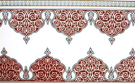 turkish ethnicity: Ottoman Style Painting Pattern