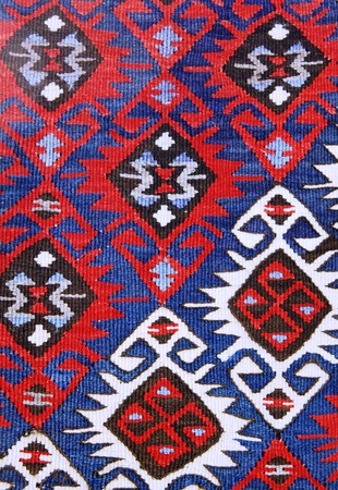 wool rugs: Texture of Old Turkish Carpet  Stock Photo