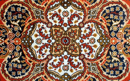 Texture of Old Turkish Carpet  photo