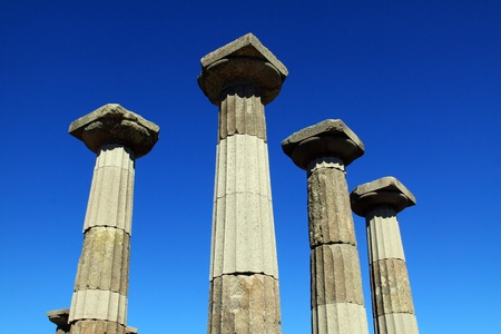 Ruined Athena Temple in Assos, Turkey  photo