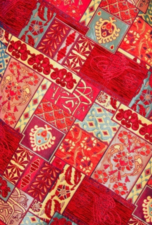 rug weaving: Texture of Old Turkish Carpet  Stock Photo
