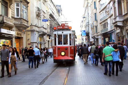 Beyoglu tram, Istanbul Turkey  Stock Photo - 13460642