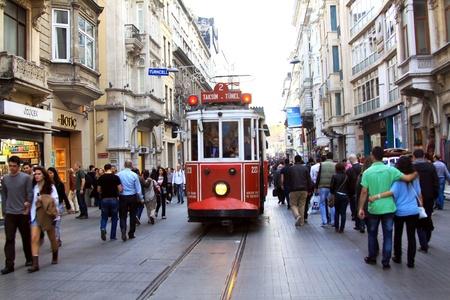 Beyoglu tram, Istanbul Turkey  Stock Photo - 13460642