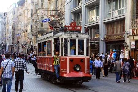 Beyoglu tram, Istanbul Turkey
