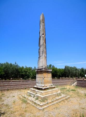 iznik: Old Obelisk in Nicea  Iznik , Turkey