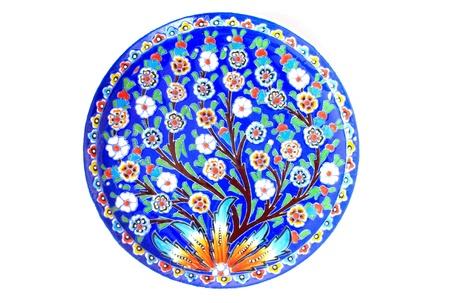 Plaque de tuile turque Banque d'images