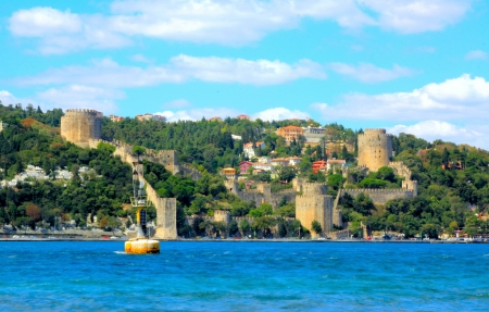 rumeli: Rumeli Fortress on the bank of Bosphorus in Istanbul, Turkey