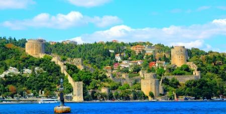 hisari: Rumeli Fortress on the bank of Bosphorus in Istanbul, Turkey