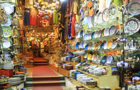 The oldest shopping mall; Grand Bazaar in Istanbul Stock Photo - 17327045